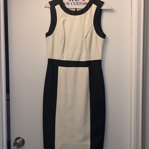 Vince Camuto - Black and White Leather Dress